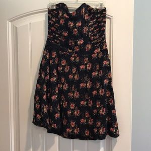 Strapless floral dress, size 12